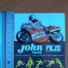 Coches y Motocicletas: PEGATINA AÑOS 80 DE JOHN SMITH, TEMÁTICA MOTOS. Lote 222989512