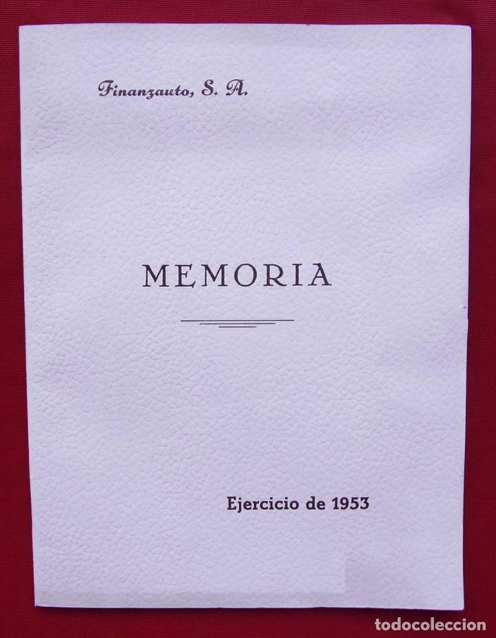 MEMORIA FINANZAUTO PEGASO. AÑO: 1953. FOTOS EXPECTACULARES. ÚNICA EN VENTA. NUNCA VENDIDA. (Coches y Motocicletas Antiguas y Clásicas - Catálogos, Publicidad y Libros de mecánica)