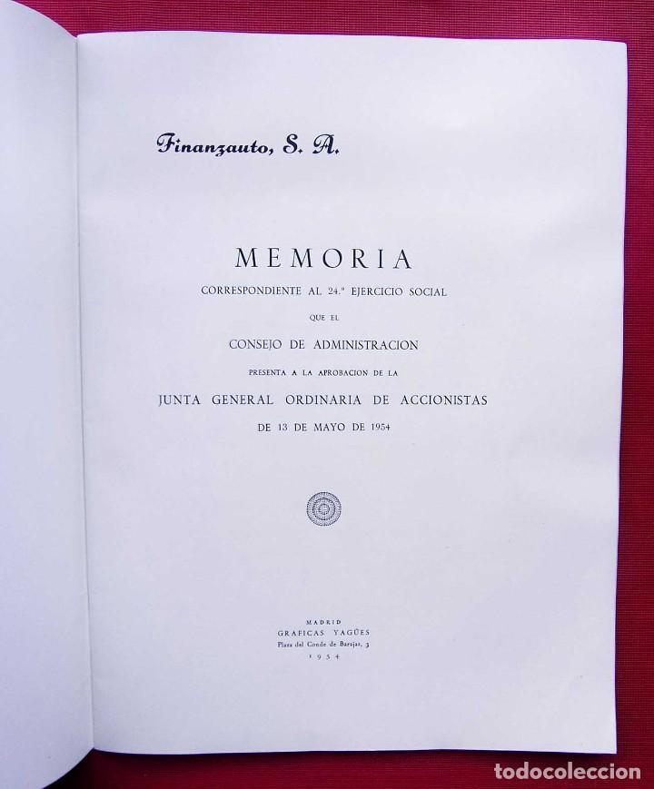 Coches y Motocicletas: MEMORIA FINANZAUTO PEGASO. AÑO: 1953. FOTOS EXPECTACULARES. ÚNICA EN VENTA. NUNCA VENDIDA. - Foto 2 - 223118508