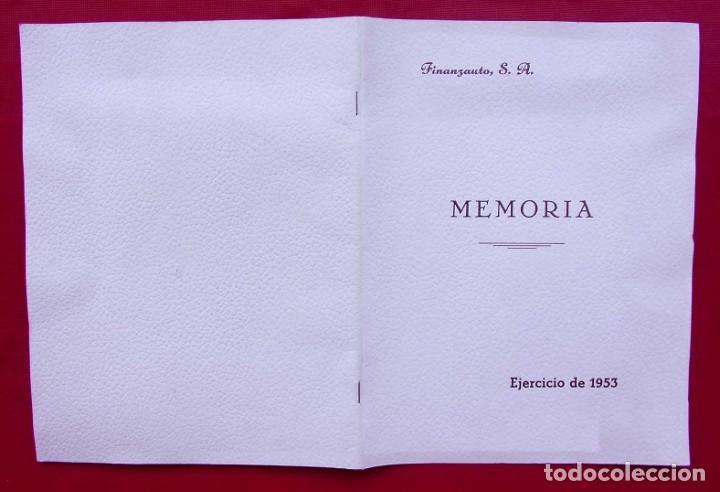Coches y Motocicletas: MEMORIA FINANZAUTO PEGASO. AÑO: 1953. FOTOS EXPECTACULARES. ÚNICA EN VENTA. NUNCA VENDIDA. - Foto 11 - 223118508