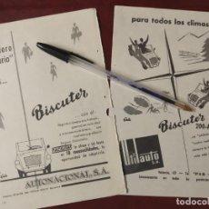 Coches y Motocicletas: BISCUTER Y BISCUTER 200A. AUTONACIONAL Y UTILAUTO DIBUJOS GALA.. Lote 21130506