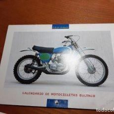 Coches y Motocicletas: BULTACO CALENDARIO DE CLUB. Lote 224551018