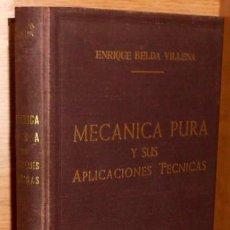 Carros e motociclos: MECANICA PURA Y SUS APLICACIONES TECNICAS (I). VECTORIAL. TENSORIAL. CINEMATICA. E. BELDA VILLENA.. Lote 225593715