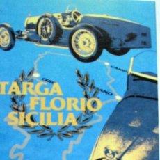 Coches y Motocicletas: FOTOGRAFIA DEL POSTER BUGATTI TARGA FLORIO SICILIA - 41 X 16 CM. Lote 225967090