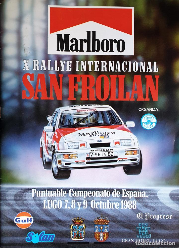 X RALLYE SAN FROILAN 1988. CAMPEONATO ESPAÑA RALLYES (Coches y Motocicletas Antiguas y Clásicas - Catálogos, Publicidad y Libros de mecánica)