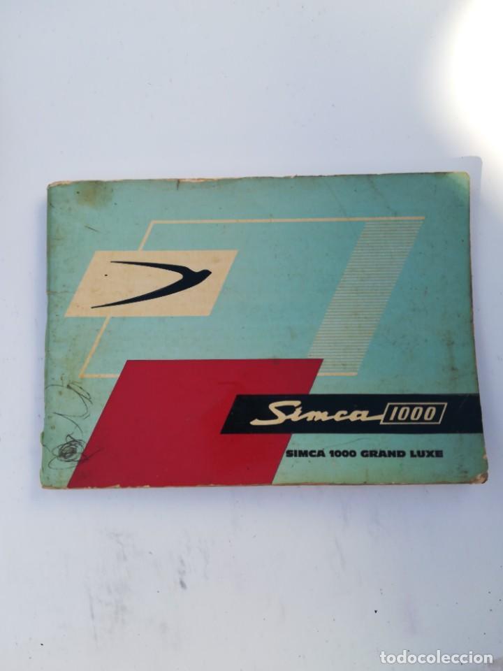 MANUAL SIMCA 1000 (Coches y Motocicletas Antiguas y Clásicas - Catálogos, Publicidad y Libros de mecánica)
