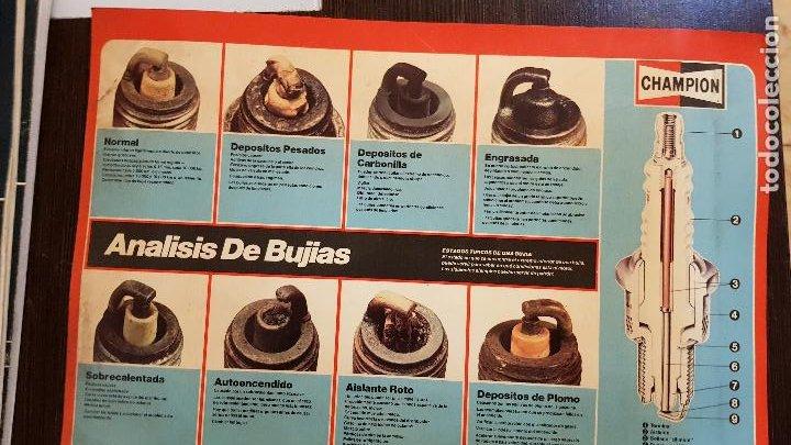 CHAMPION-ANALISIS DE BUJIAS (Coches y Motocicletas Antiguas y Clásicas - Catálogos, Publicidad y Libros de mecánica)