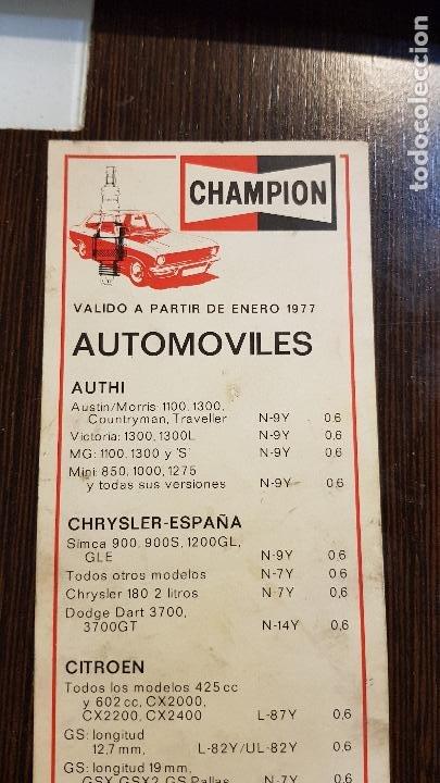 Coches y Motocicletas: CHAMPIONVALIDO A PARTIR DE 1977-AUTOMOVILES - Foto 2 - 226129062