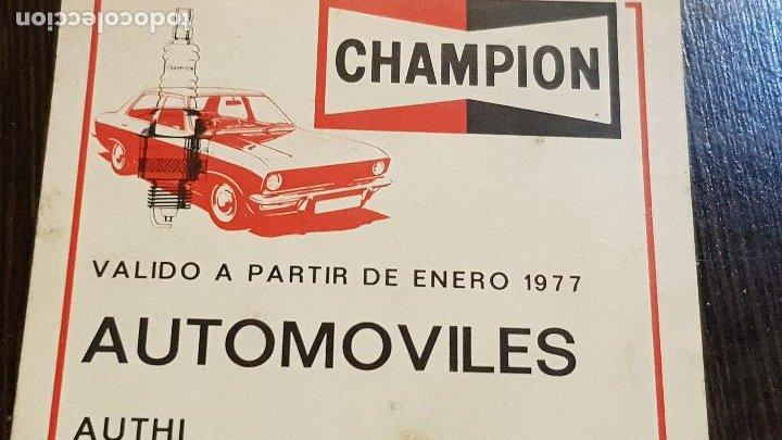 CHAMPIONVALIDO A PARTIR DE 1977-AUTOMOVILES (Coches y Motocicletas Antiguas y Clásicas - Catálogos, Publicidad y Libros de mecánica)