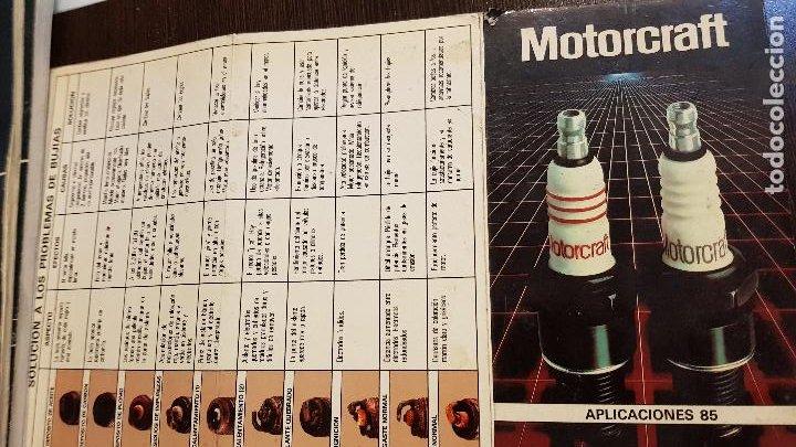 MOTORCRAFT APLICACIONES 85 (Coches y Motocicletas Antiguas y Clásicas - Catálogos, Publicidad y Libros de mecánica)