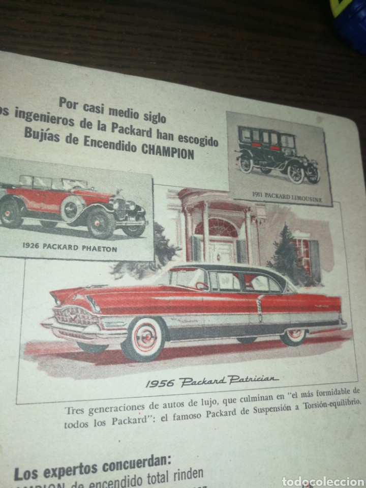 Coches y Motocicletas: CHAMPION BUJÍAS, ANTIGUA PUBLICIDAD 1956 - Foto 2 - 226163295