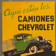 Coches y Motocicletas: AQUÍ ESTÁN LOS CAMIONES CHEVROLET 1933. Lote 226272735