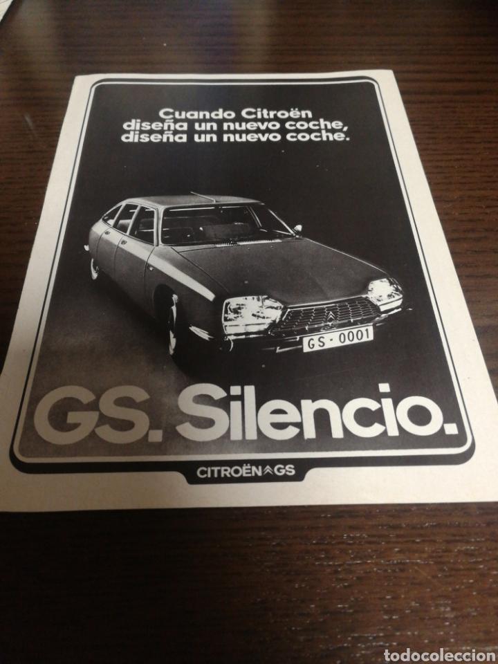 CITROËN GS, ANTIGUA PUBLICIDAD 1973. (Coches y Motocicletas Antiguas y Clásicas - Catálogos, Publicidad y Libros de mecánica)