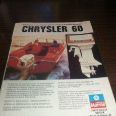 Coches y Motocicletas: CHRYSLER MOTORES, ANTIGUA PUBLICIDAD 1973. Lote 227102210