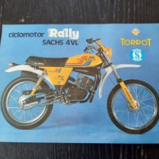 Coches y Motocicletas: FOLLETO PUBLICITARIO DE CICLOMOTOR TORROT RALLY SACHS 4VL. Lote 228418225
