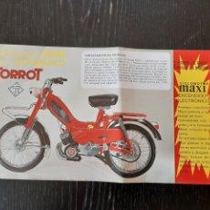 Coches y Motocicletas: FOLLETO PUBLICITARIO DE CICLOMOTOR TORROT MINI AUTOMÁTICO DE 49CC. Lote 228419345