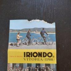 Coches y Motocicletas: ANTIGUO CATALOGO DE FABRICA DE BICICLETAS IRIONDO VITORIA. Lote 228420120