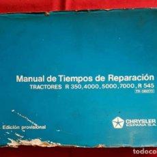 Coches y Motocicletas: CHRYSLER, MANUAL TIEMPO REPARACION TRACTORES BARREIROS , AÑOS 1970,. Lote 228422035