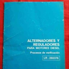Coches y Motocicletas: CHRYSLER, CATALOGO ALTERNADORES Y REGULADORES , AÑOS 1970,. Lote 228428050