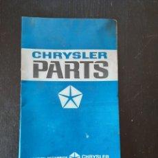 Coches y Motocicletas: ANTIGUO CARTON DE CHRYSLER PARTS DE JUNTAS. Lote 228428575