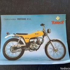 Coches y Motocicletas: FOLLETO PUBLICITARIO DE CICLOMOTOR TORROT MUSTANG 4VL. Lote 228428905