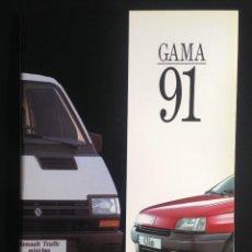 Coches y Motocicletas: RENAULT/JEEP GAMA 1991, CATALOGO COMERCIAL. Lote 228892748