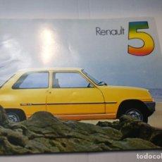 Coches y Motocicletas: CATALOGO PUBLICIDAD RENAULT 5 AÑO 1976 DE PUBLINSA. Lote 229580035