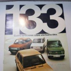 Coches y Motocicletas: CATALOGO PUBLICIDAD SEAT 133 AÑO 1975 DE FISEAT. Lote 229583055