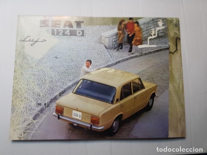 CATALOGO PUBLICIDAD SEAT 124D AÑO 1971 DE SERVICIO PUBLICIDAD SEAT (Coches y Motocicletas Antiguas y Clásicas - Catálogos, Publicidad y Libros de mecánica)