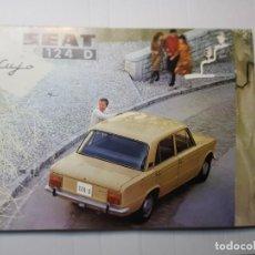 Coches y Motocicletas: CATALOGO PUBLICIDAD SEAT 124D AÑO 1971 DE SERVICIO PUBLICIDAD SEAT. Lote 229584665
