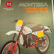 Coches y Motocicletas: MOTO MONTESA ENDURO 125 H6 CATALOGO PUBLICITARIO ORIGINAL 1981. Lote 245170945