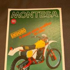 Coches y Motocicletas: MOTO MONTESA ENDURO 360 H6 CATALOGO PUBLICITARIO ORIGINAL 1981. Lote 245170885