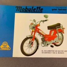 Automobili e Motociclette: MOBYLETTE CICLOMOTOR GRAN TURISMO AV-70 CATALOGO ORIGINAL. Lote 277720663