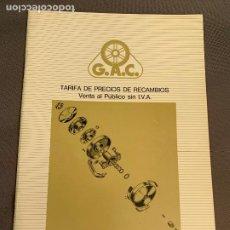 Coches y Motocicletas: MOBYLETTE LIBRETO TARIFA DE PRECIOS RECAMBIOS MAYO 1988 CATALOGO ORIGINAL. Lote 229853060