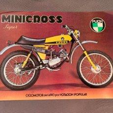 Coches y Motocicletas: MOTOCICLETAS PUCH MINICROSS SUPER CATALOGO ORIGINAL. Lote 262089570