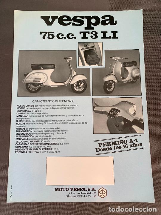 Coches y Motocicletas: MOTO VESPA 75 T3 LI CATALOGO ORIGINAL - Foto 2 - 262087580