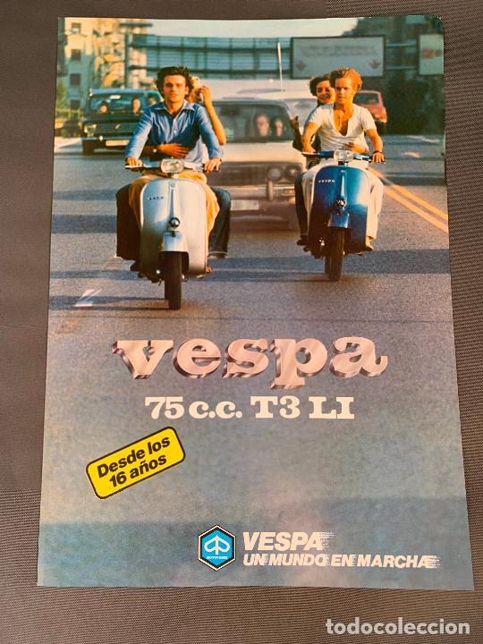 MOTO VESPA 75 T3 LI CATALOGO ORIGINAL (Coches y Motocicletas Antiguas y Clásicas - Catálogos, Publicidad y Libros de mecánica)