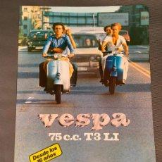 Coches y Motocicletas: MOTO VESPA 75 T3 LI CATALOGO ORIGINAL. Lote 262087580