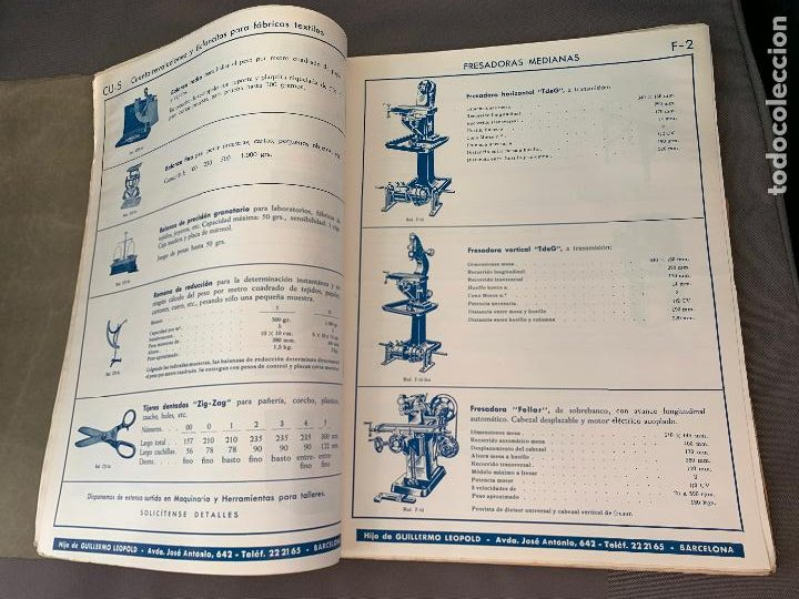 Coches y Motocicletas: EL ANCORA DE ORO LEOPOLD CATALOGO HERRAMIENTAS MAQUINARIA AUTOMOVILES AÑOS 50 - Foto 4 - 229889995