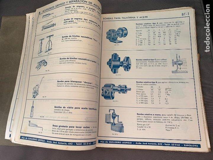 Coches y Motocicletas: EL ANCORA DE ORO LEOPOLD CATALOGO HERRAMIENTAS MAQUINARIA AUTOMOVILES AÑOS 50 - Foto 6 - 229889995
