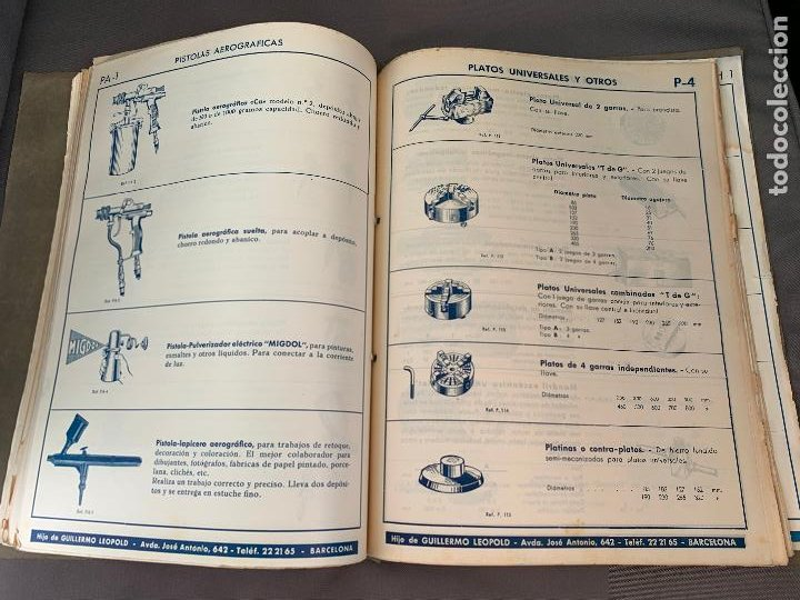 Coches y Motocicletas: EL ANCORA DE ORO LEOPOLD CATALOGO HERRAMIENTAS MAQUINARIA AUTOMOVILES AÑOS 50 - Foto 8 - 229889995