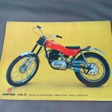 Coches y Motocicletas: MONTESA MOTO COTA 74 MANUAL DE INSTRUCCIONES ORIGINAL. Lote 229896975