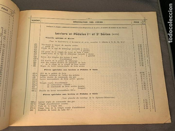 Coches y Motocicletas: DONNET ZEDEL VOITURES CATALOGO TARIFAS PIEZAS RECAMBIO 1920 TYPES CE Y CES - Foto 3 - 229902340