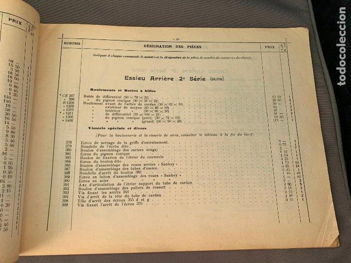 Coches y Motocicletas: DONNET ZEDEL VOITURES CATALOGO TARIFAS PIEZAS RECAMBIO 1920 TYPES CE Y CES - Foto 4 - 229902340