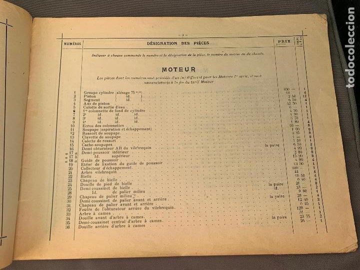Coches y Motocicletas: DONNET ZEDEL VOITURES CATALOGO TARIFAS PIEZAS RECAMBIO 1920 TYPES CE Y CES - Foto 5 - 229902340