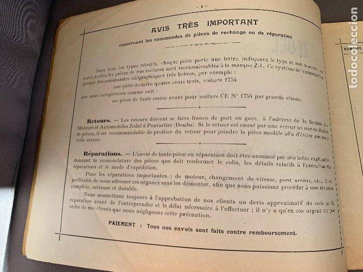 Coches y Motocicletas: DONNET ZEDEL VOITURES CATALOGO TARIFAS PIEZAS RECAMBIO 1920 TYPES CE Y CES - Foto 7 - 229902340