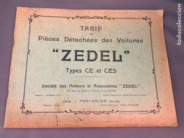DONNET ZEDEL VOITURES CATALOGO TARIFAS PIEZAS RECAMBIO 1920 TYPES CE Y CES (Coches y Motocicletas Antiguas y Clásicas - Catálogos, Publicidad y Libros de mecánica)