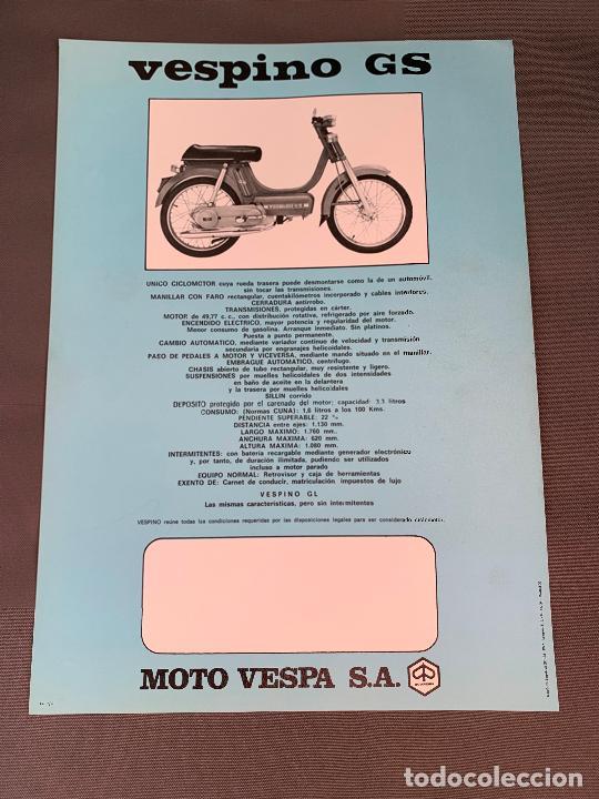 Coches y Motocicletas: MOTO VESPA VESPINO GS CICLOMOTOR CATALOGO ORIGINAL 1976 - Foto 2 - 262087800