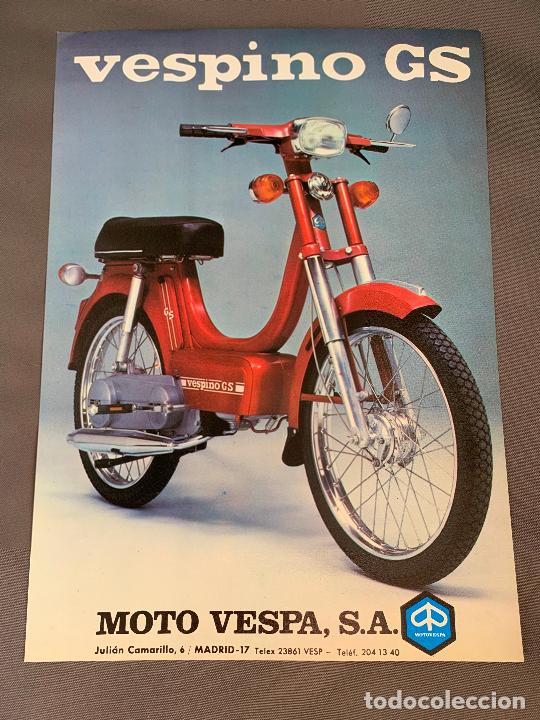 MOTO VESPA VESPINO GS CICLOMOTOR CATALOGO ORIGINAL 1976 (Coches y Motocicletas Antiguas y Clásicas - Catálogos, Publicidad y Libros de mecánica)