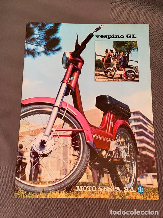 MOTO VESPA VESPINO GL CICLOMOTOR CATALOGO ORIGINAL 1974 (Coches y Motocicletas Antiguas y Clásicas - Catálogos, Publicidad y Libros de mecánica)
